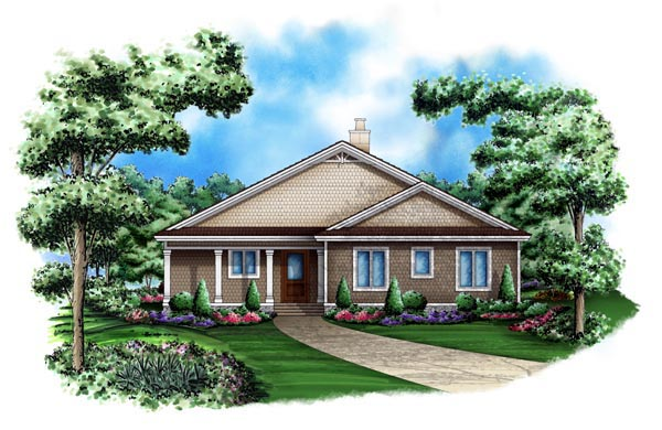 Cottage House Plan 60504 Elevation