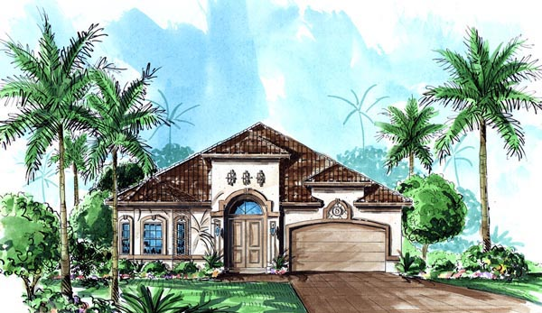 Florida Mediterranean House Plan 60506 Elevation