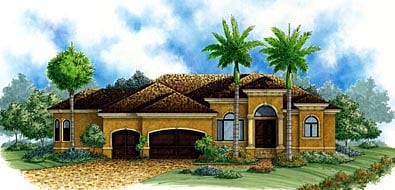 Florida Mediterranean House Plan 60507 Elevation
