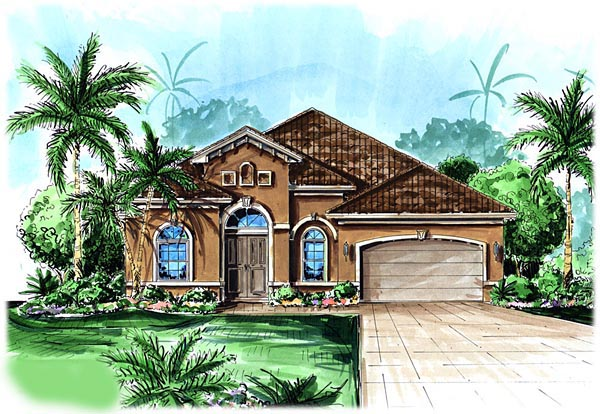Florida Mediterranean House Plan 60508 Elevation