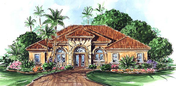 Florida Mediterranean House Plan 60510 Elevation