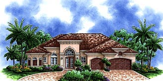 Florida Mediterranean House Plan 60511 Elevation