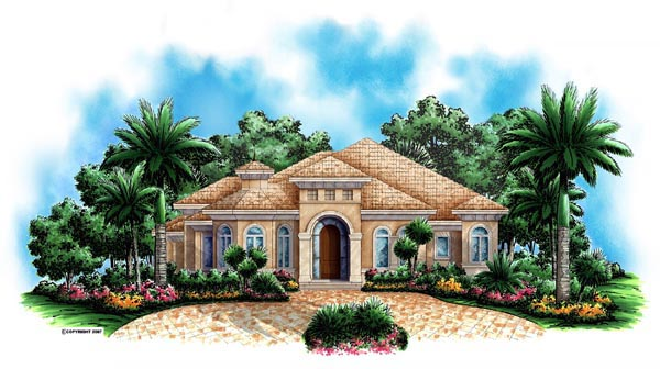 Florida Mediterranean House Plan 60512 Elevation