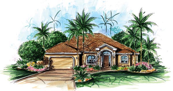 Florida Mediterranean House Plan 60513 Elevation