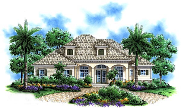 Florida Mediterranean House Plan 60515 Elevation