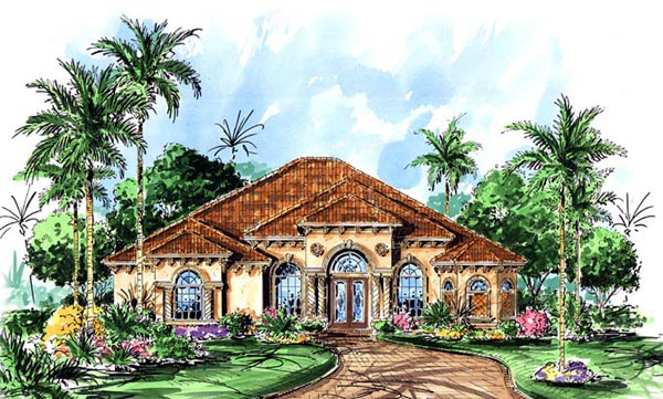 Mediterranean House Plan 60516 Elevation