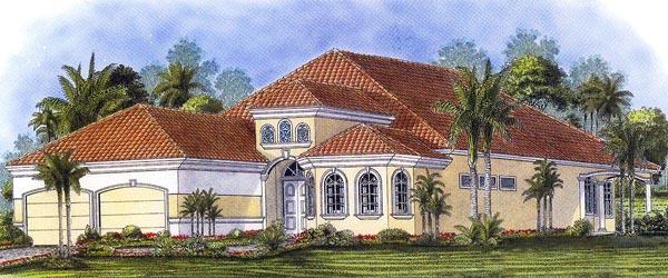 Florida Mediterranean House Plan 60517 Elevation