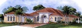 Florida Mediterranean House Plan 60518 Elevation