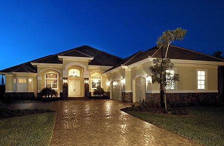 Florida Mediterranean House Plan 60519
