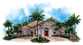Florida Mediterranean House Plan 60521 Elevation