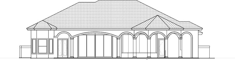 Florida Mediterranean House Plan 60521 Rear Elevation