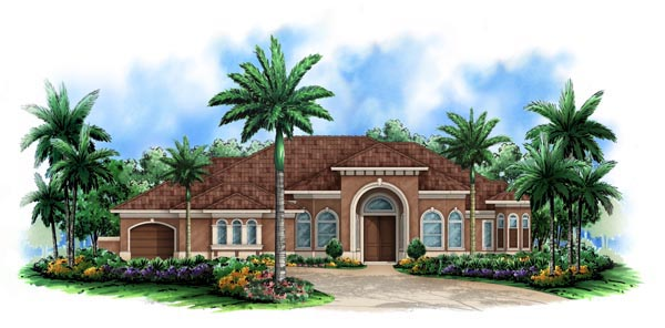 Florida Mediterranean House Plan 60522 Elevation