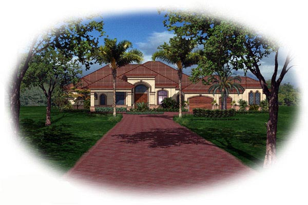 Florida Mediterranean House Plan 60524 Elevation