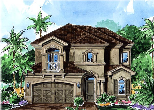 Florida Mediterranean House Plan 60530 Elevation