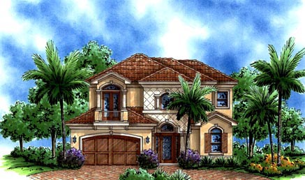 Florida Mediterranean House Plan 60533 Elevation