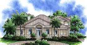 Florida Mediterranean House Plan 60534 Elevation