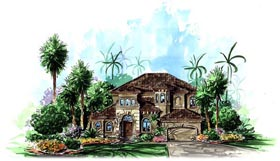 Florida Mediterranean House Plan 60535 Elevation