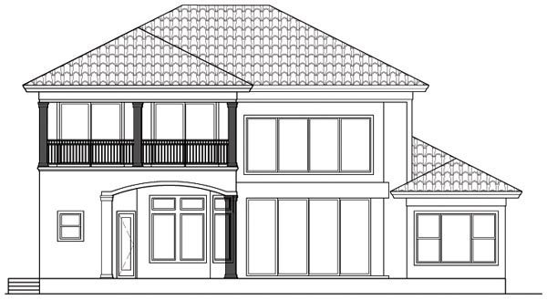 Florida Mediterranean House Plan 60535 Rear Elevation