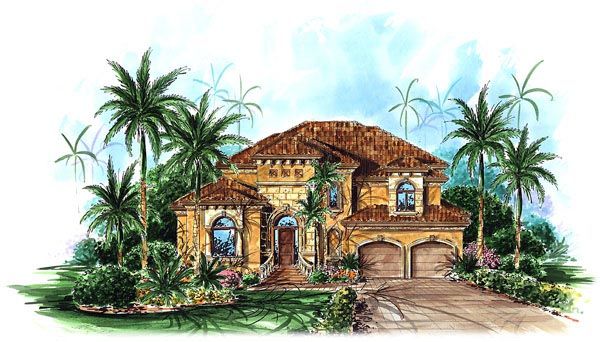 Florida Mediterranean House Plan 60536 Elevation