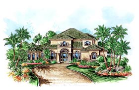 Florida Mediterranean House Plan 60538 Elevation