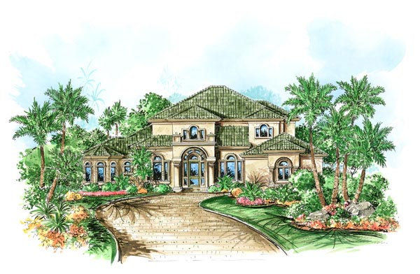 Florida Mediterranean House Plan 60538 Elevation
