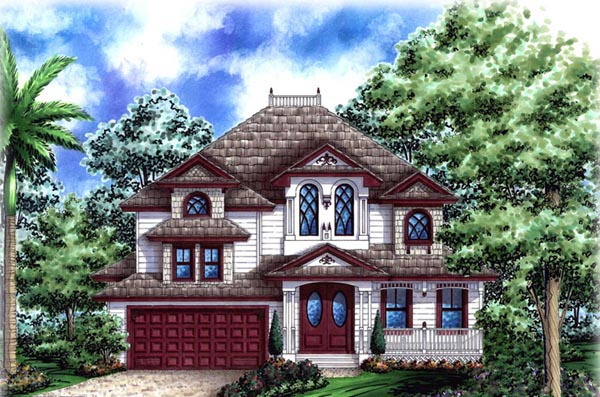 European House Plan 60539 Elevation