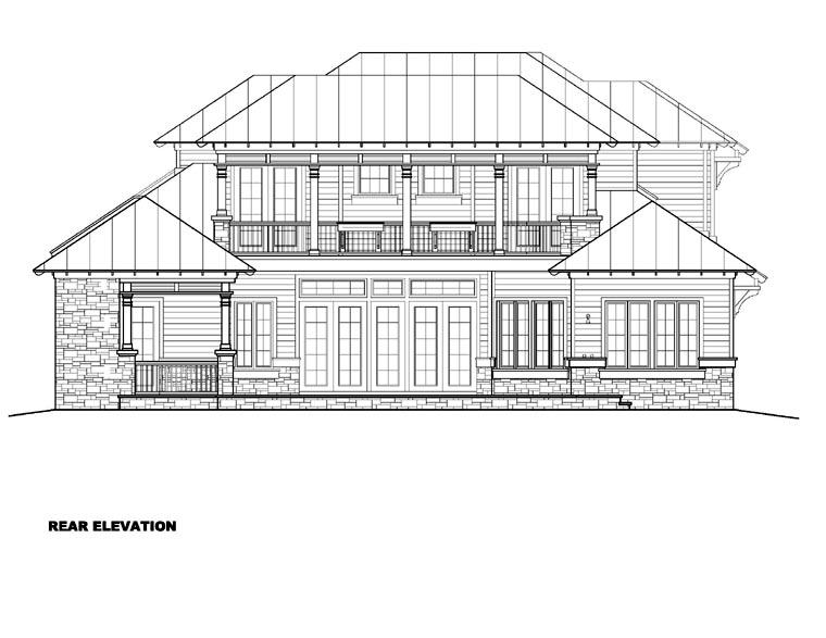 Florida Mediterranean House Plan 60542 Rear Elevation