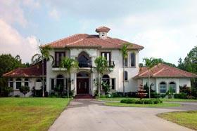 House Plan 60545 | Florida Mediterranean Style Plan with 3571 Sq Ft, 3 Bedrooms, 4 Bathrooms, 2 Car Garage Elevation