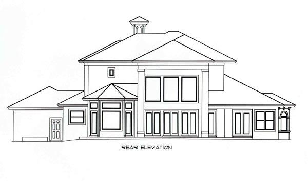 Florida Mediterranean House Plan 60545 Rear Elevation