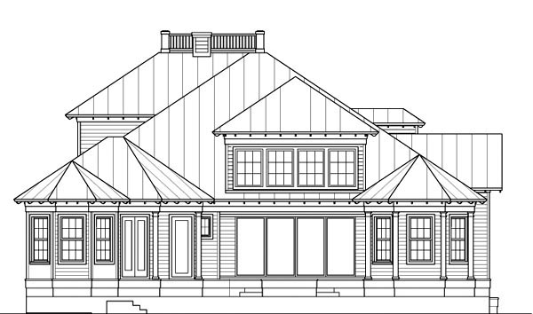House Plan 60546 | Florida Style Plan with 3645 Sq Ft, 4 Bedrooms, 4 Bathrooms, 2 Car Garage Rear Elevation