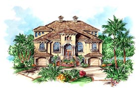 Florida Mediterranean House Plan 60547 Elevation