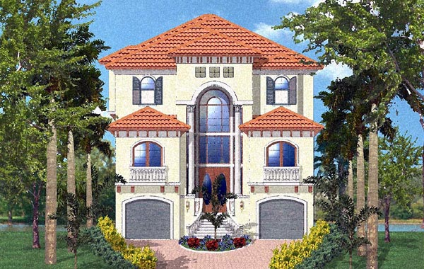 Florida Mediterranean Elevation of Plan 60548