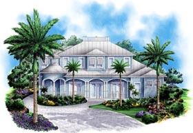 Florida , Mediterranean House Plan 60551 with 4 Beds, 5 Baths, 3 Car Garage Elevation