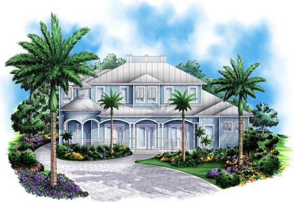 Florida Mediterranean House Plan 60551 Elevation