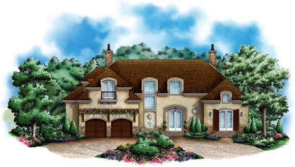 European Mediterranean House Plan 60553 Elevation
