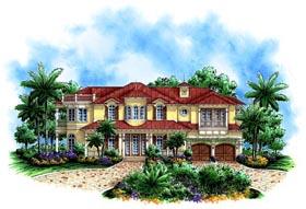 Florida Mediterranean House Plan 60555 Elevation