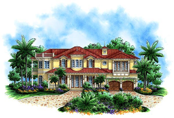 Florida Mediterranean House Plan 60555 Elevation