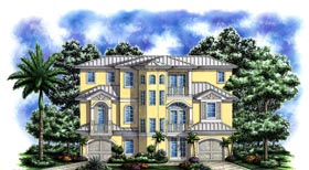 Coastal Florida Mediterranean House Plan 60556 Elevation