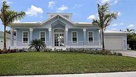 Florida House Plan 60557 with 3 Beds, 2 Baths, 2 Car Garage Elevation