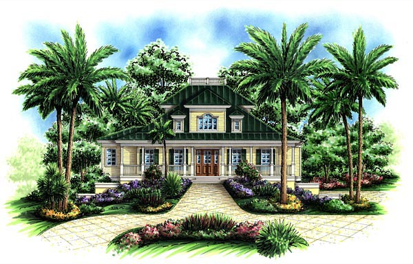 Florida Mediterranean House Plan 60559 Elevation