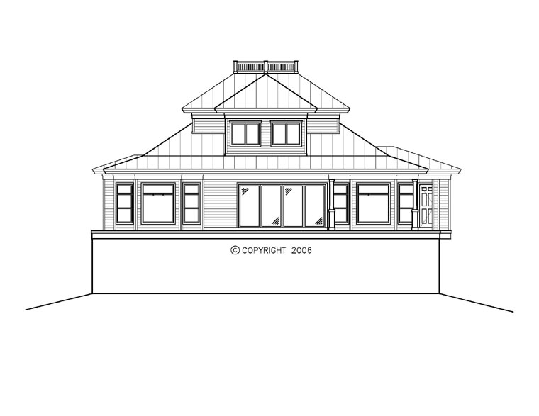 Florida Mediterranean House Plan 60559 Rear Elevation