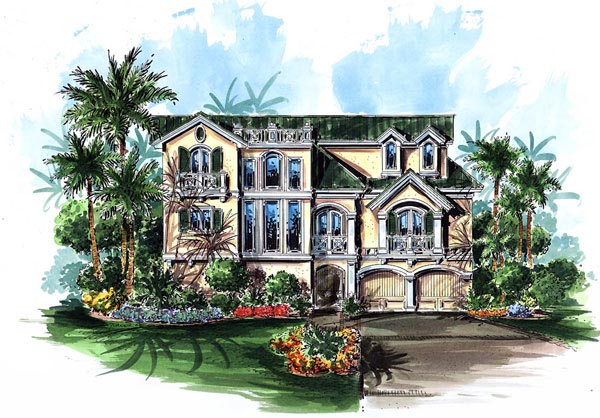 Coastal Florida Elevation of Plan 60560