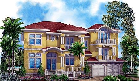 Florida Mediterranean House Plan 60561 Elevation