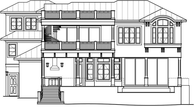 Florida Mediterranean House Plan 60561 Rear Elevation