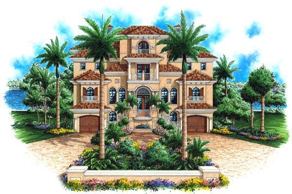 Florida Mediterranean House Plan 60562 Elevation