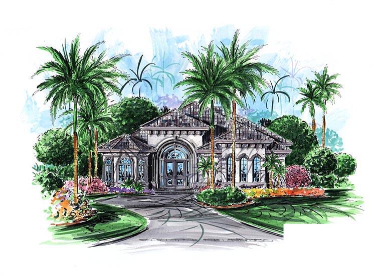 Mediterranean House Plan 60565 Elevation