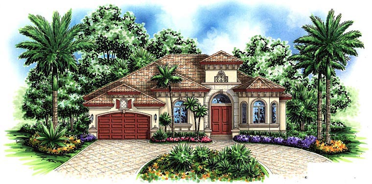 Mediterranean House Plan 60566 Elevation
