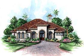 Mediterranean House Plan 60568 Elevation