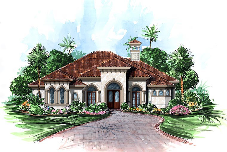 Mediterranean House Plan 60568 Elevation