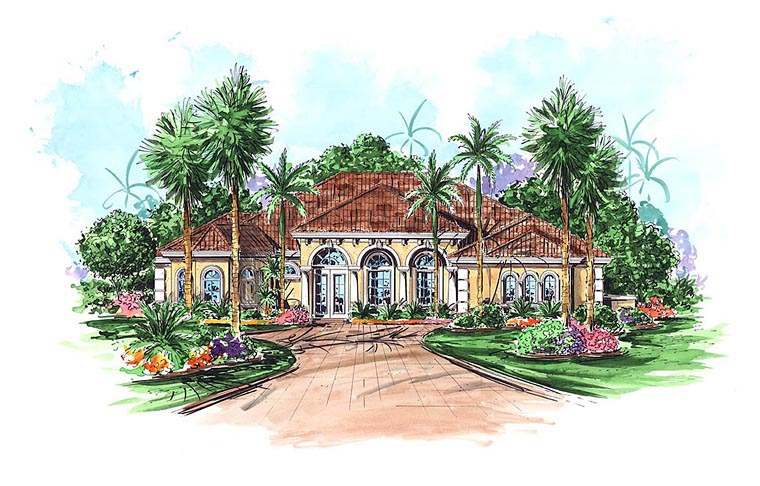 Mediterranean House Plan 60571 Elevation